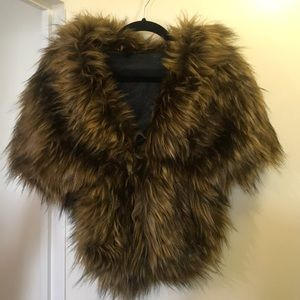 Faux fur wrap. Worn once for a wedding